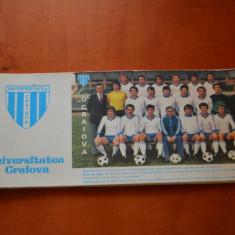 CARNETEL FC UNIVERSITATEA CRAIOVA, CU SEMNATURILE JUCATORILOR ANI 80 + DOMOZINA - Program meci