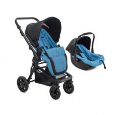 Carucior copii transformabil BabyGo Blue MyKids - Carucior copii 3 in 1