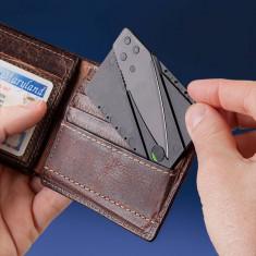 BRICEAG tip stil in forma de CARD DE CREDIT cutit portofel CARDSHARP knife pret - Briceag/Cutit vanatoare