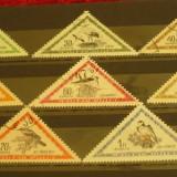 UNGARIA 1952 – PASARI, serie DEPARAIATA stampilata UA146 - Timbre straine