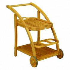 Carucior din lemn masiv Hecht S Trolley, lemn Aracia - Jucarie carucior copii