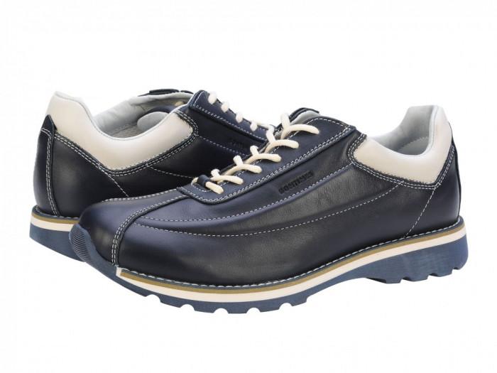 Pantofi casual barbati piele Bit Bontimes Welt albastru B635PVBLU foto mare