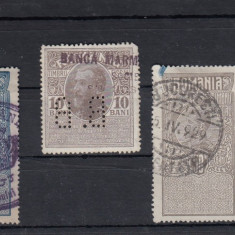 ROMANIA  LOT TIMBRE FISCALE STAMPILATE