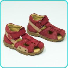 DE CALITATE → Sandale piele, comode, usoare, aerisite, ELEFANTEN → fete | nr. 24 - Sandale copii Elefanten, Culoare: Rosu, Piele naturala