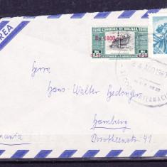 Plicuri si intreguri postale BOLIVIA 1960 = FRAGM. DE PLIC CIRCULAT + SUPRATIPA