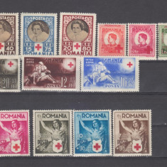 Romania Lot timbre Crucea Rosie - Timbre Romania, An: 1938, Oameni, Nestampilat