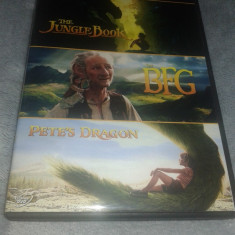 3 Filme Disney Cartea Junglei, Pete's Dragon, The BFG dublate romana - Film animatie disney pictures, DVD