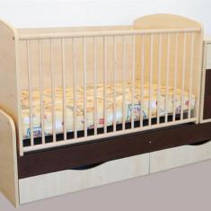 Patut Transformabil Mykids Silence Cu Leg Venghe 4057 - Patut lemn pentru bebelusi