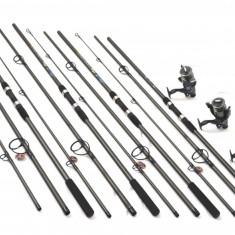 Set 4 lansete FINO CARP 3, 9m cu 4 mulinete COOL ANGEL A6000 cu 11 rul - Set pescuit