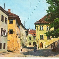 CPI (B8306) CARTE POSTALA - SIGHISOARA - PIATA CETATII - Carte Postala Transilvania dupa 1918, Necirculata, Fotografie