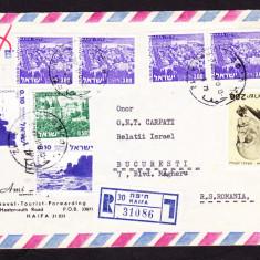 Plicuri si intreguri postale ISRAEL 1979 = HAIFA - BUCURESTI