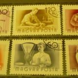UNGARIA 1955 – MESERII, serie DEPARAIATA stampilata UA149 - Timbre straine