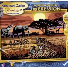 Pictura Pe Numere Safari African - Jocuri arta si creatie Ravensburger