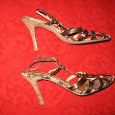 Sandale piele Nine West, ca noi Mar 38, 5/ 39 - Sandale dama Nine West, Culoare: Multicolor