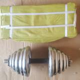 Set gantere 2x20kg Cromate, discuri reglabile, Greutate (kg): 40