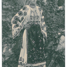 2748 - Dambovita, Ethnic woman - old postcard - used - 1907 - Carte Postala Muntenia 1904-1918, Circulata, Printata