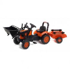 Tractor Kubota cu Remorca si Excavator Falk