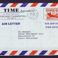 Plicuri si intreguri postale AMERICA 1957 = FRAGMENT DE PLIC POSTA AERIANA
