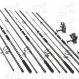 Set 4 lansete FINO CARP 3,6m 4 mulinete COOL A6000 cu 11 rulmenti si baitrunner