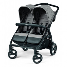 Carucior gemeni Book for Two ModBeige Peg Perego, Albastru