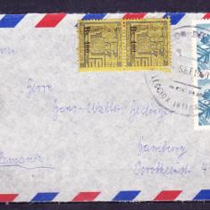 Plicuri si intreguri postale BOLIVIA 1960 = FRAG. DE PLIC CU 2 PER. DE TIMBRE