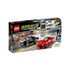 Cursa de dragstere Chevrolet Camaro 75874 Speed Champions LEGO - LEGO Speed Champions