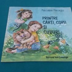 PRINTRE CĂRȚI, COPII ȘI CUBURI/ NICOLAE NEAGU/ ILUSTRAȚII D. BOTEZ/ 1989 - Carte poezie copii