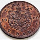 SUPERBA! 2 bani 1900 B, Romania, stare UNC