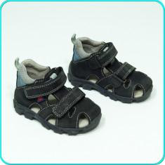 DE CALITATE → Sandale din piele, aerisite, comode, ELEFANTEN → baieti | nr. 21 - Sandale copii, Culoare: Antracit, Piele naturala