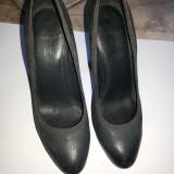 Pantofi de dama, 5-th Avenue, din piele, culoare neagra, marime 37 - Pantof dama, Culoare: Negru, Cu toc