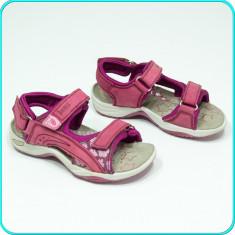 DE CALITATE → Sandale din piele, comode, aerisite, practice, BAMA → fete | nr 32 - Sandale copii, Culoare: Burgundy, Piele naturala