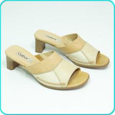DE FIRMA → Sandale / saboti dama, din piele, comozi, usori GABOR → femei | nr 38 - Sandale dama Gabor, Culoare: Bej, Piele naturala