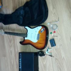 Chitară electrică + amplificator +acordor +accesorii - Chitara electrica FLAME