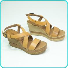 NOI → Sandale piele, cu platforma, usoare, CCC, LASOCKI → femei | nr. 38 - Sandale dama, Culoare: Bej, Piele naturala