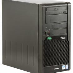 Fujitsu Esprimo P7935 Intel C2D E8500 3.16 GHz 4 GB DDR 2 500 GB HDD DVD-RW Tower Windows 10 Pro - Sisteme desktop fara monitor