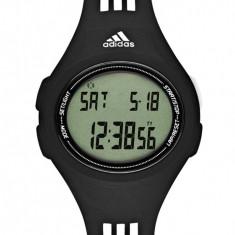 Ceas Adidas negru cu dungi albe - Ceas barbatesc Adidas, Sport, Quartz, Electronic, Diametru carcasa: 42