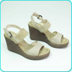 Sandale dama, platforma, foarte usoare, talpa textila, GRACELAND → femei | nr 38, Culoare: Bej