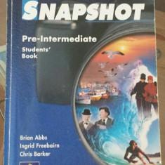 Snapshot manual engleza, nivel incepatori