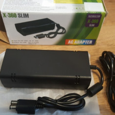 Adaptor incarcator alimentator XBOX360 xbox 360 slim nou, Cabluri
