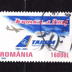 Timbre ROMANIA 2004 = TAROM- 50 ANI EXISTENTA, Stampilat