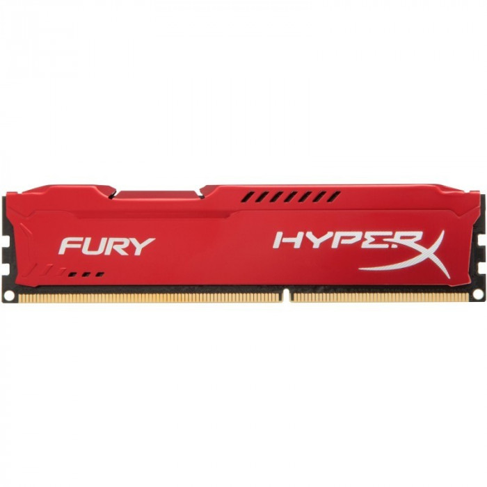 Memorie HyperX Fury Red 16GB DDR3 1866 MHz CL10 Dual Channel Kit foto mare