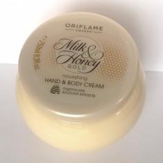 Cremă hrănitoare pentru mâini şi corp Milk & Honey Gold, Oriflame - Crema de corp