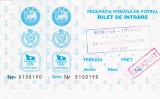 Bilet meci fotbal ROMANIA - LITUANIA 02.09.2000 (meci tineret)