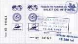 Bilet meci fotbal ROMANIA - IRLANDA 29.04.1997 (meci tineret)