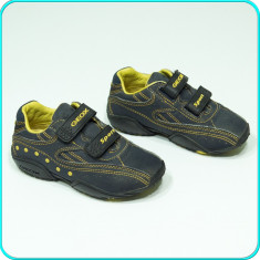 DE FIRMA → Pantofi sport / adidasi, piele, comozi, GEOX → baieti | nr. 29 - Adidasi copii Geox, Culoare: Bleumarin, Piele naturala