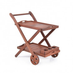 Carucior din lemn masiv Hecht Serving - Jucarie carucior copii