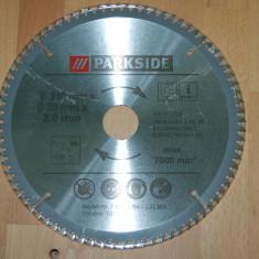 PANZA CIRCULAR 210 mm x 30 mm cu 80 de dinti pentru aluminiu sau lemn