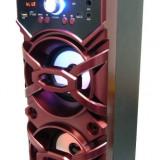 Boxa portabila Bluetooth,Radio,slot USB/Card,mp3,intrare MIC,10w,2 difuzoare