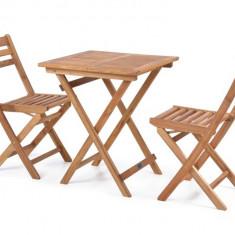 Masa cu 2 scaune din lemn masiv Hecht Balcony Set A - Comoda living