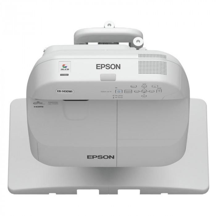 Videoproiector Epson EB-1430WI WXGA 1280x600, 3300 lumeni, 10000:1, lampa 4000 ore, foto mare